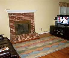 paint colors for living room with brick fireplace zion star