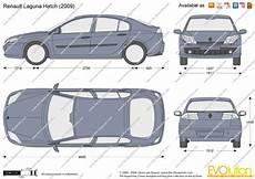 Renault Laguna Hatch Vector Drawing