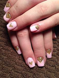 pink gold gel nails gold gel nails gel nail designs nails