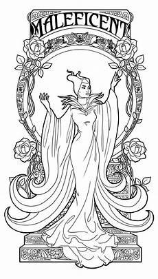 Malvorlagen Jugendstil Easy Maleficent Nouveau Lineart By Tosca On