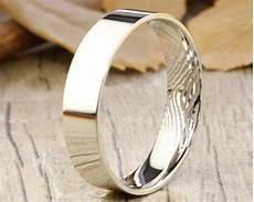 your actual finger print rings wedding ring men ring white gold to