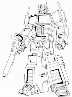 optimus prime autobots coloring sheet