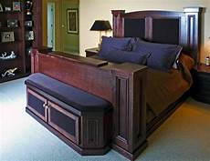 Bed Frame With Retractable Plasma Console Traditional