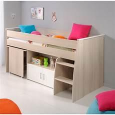 bureau lit combiné lit combin 233 enfant contemporain acacia blanc comix matelpro