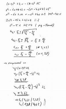 schnittpunkte zweier funktionen berechnen quadratische