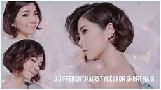 3 different hairstyles for short hair using flat iron youtube