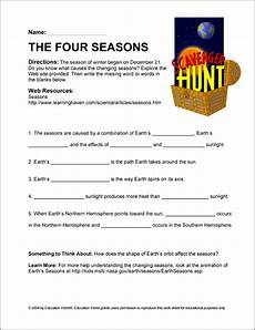 changing seasons worksheets 14779 scavenger hunt changing of the seasons education world