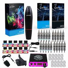 professional complete tattoo kit 4 top rotary machine gun
