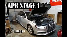 audi s4 apr stage 1 intake exhaust downpipes tune youtube