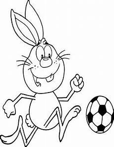 Ausmalbilder Ostern Supercoloring Osterhase Spielt Fussball Zum Ausmalen Ausmalbilder