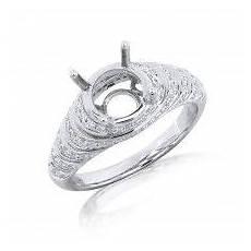 tier design diamond engagement ring in 18k