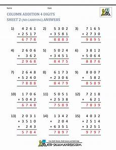 free worksheets for second grade 20429 free printable addition worksheets 3rd grade
