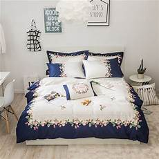 2017 cotton bed linen flowers embroidery 4