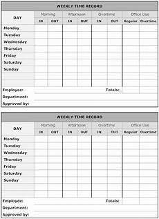 time recording worksheet 3183 exle image weekly time record business timesheet template time sheet printable