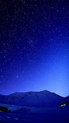 blue nature iphone wallpaper cold blue starry sky mountains iphone 6 wallpaper hd