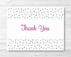 thank you card template baby sprinkle thank you card folded card template baby