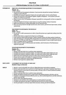 equipment engineering resume sles velvet