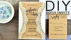 diy rustic doily wedding invitations youtube