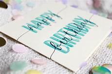 geburtstagskarte happy birthday aquarell etsy mit
