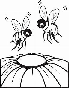 printable bee coloring page for 2 supplyme
