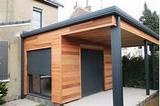 extension garage bois toit plat prix terrasse beton 30m2