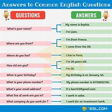 how to write your common 200 answers to common english questions learn english