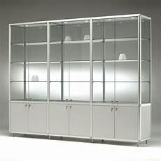 glas vitrine glasvitrine mit unterschrank 3 x 2 t 252 ren 3 x 3 fachb 246 den