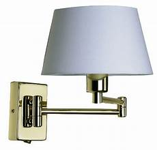 oaks armada polished brass switched double swing arm wall light 722 pb oaks lighting