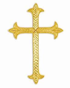Cm Almy Gold Metallic Cross Applique 801