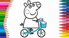 peppa wutz fahrrad ausmalbilder f 228 rbung kleine h 228 nde