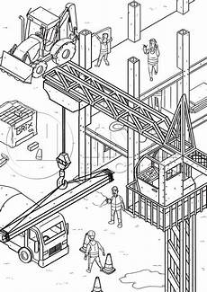 coloring pages of construction vehicles 16461 construction yard colouring page cool coloring pages coloring pages printables