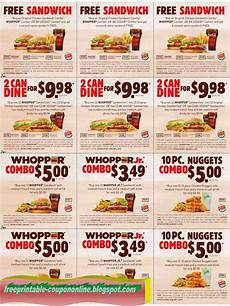 Printable Coupons 2019 Burger King Coupons