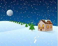 weihnachtskarikatur clipart winter landschaft stock