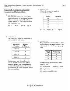 measures of central tendency worksheet for 9th grade