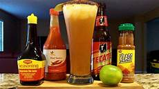 how to make a michelada beer cocktail mixed drink