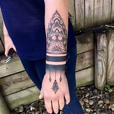 blackwork mandala arm joe kintz tattooing