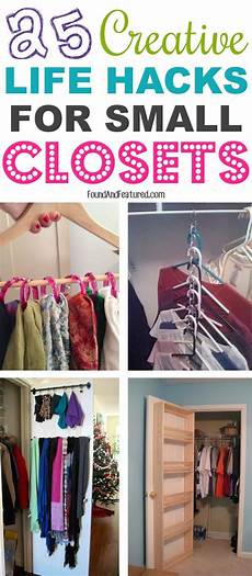 25 creative life hacks for small closets small closet