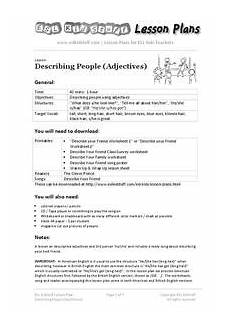 describing adjectives lesson plan for 3rd 9th grade lesson planet