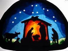 transparentfensterbild krippe fensterbilder weihnachten