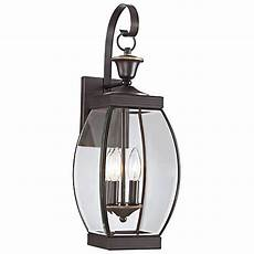 quoizel oasis 21 quot high bronze finish outdoor wall light w2316 ls plus