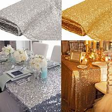 new sparkly sequin tablecloth 40 quot x59 square for wedding