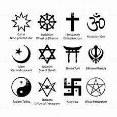 Religious Symbols Set Religion Signs Simple Black Icon Set