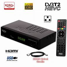 Dvtb 2 Receiver - xoro hd dvb t2 receiver xoro hrt 7619 hevc h 265 usb hdtv