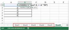 how to increment worksheet reference automatically in excel