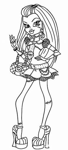 style frankie stein high coloring page