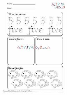recognising numbers worksheet 5