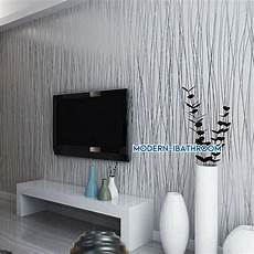 modern stripe wallpaper grey silver embossed glitter lined