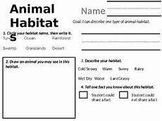 animal habitat worksheets 13889 animal habitats worksheet by carlson teachers pay teachers