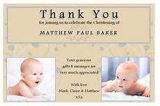 thank you card template for baptism 10 personalised christening baptism thankyou photo cards n193