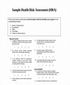 free 8 risk assessment forms sles in pdf
